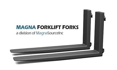 """NEW Forklift Forks + 96"""" Long Class 4 +  21000 Capacity + Free Shipping + Magna"""