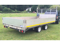 Ifor Williams dp flatbed chassis with aluminium body 3500kg trailer