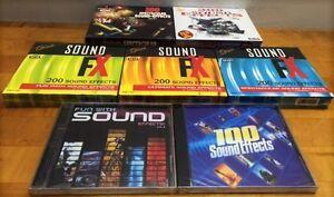 Lot de 14 CD d'effets sonores neufs à vendre