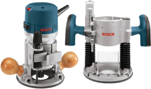Bosch 1617EVSPK Plunge & Fixed Base Router Package + Extra Bits