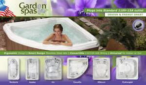 Plug & Play Garden Collection Hot Tubs on Sale this Weekend!