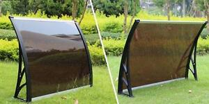 Polycarbonate Awning for Window & Door House canopy UV protected MODEL: 190203 Color: Dark brown 40W×30L