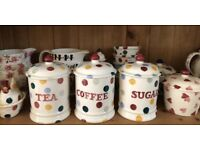 Emma Bridgewater Tea, Coffee and Sugar Jars