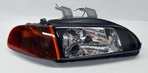 Honda Civic 92-95 2/3dr JDM Black Headlights w/ Smoke Amber Corner Lights