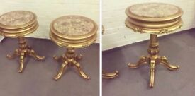 Pair of gold tables