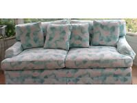 Large, super-comfortable sofa, barely used, summery fabric