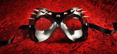 Mask Venice Gloss Black Leather Tip Line Erotic Colombine Fellini 546