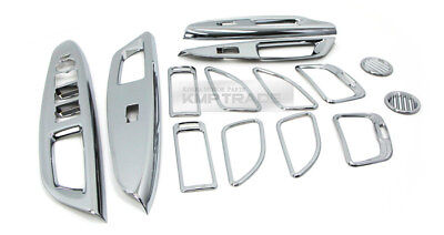 Interior Trim Chrome Molding Cover Kit for KIA 2012-2017 Rio Pride