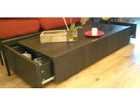 Coffee table with drawers and Wheels - LOCAL FREE DELIVERY
