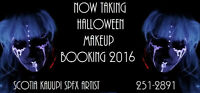 Halloween Makeup Bookings now open