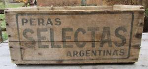 Caisse boite de bois Peras Selectas Argentinas  Brocante