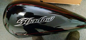 GAS TANK BLACK DENTED ON TOP 750 shadow honda