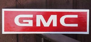 RED GMC SIGN.