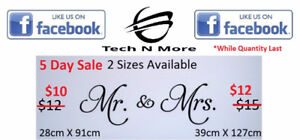 Mr. & Mrs. Wall Stickers (2 Options) 5 DAY SALE