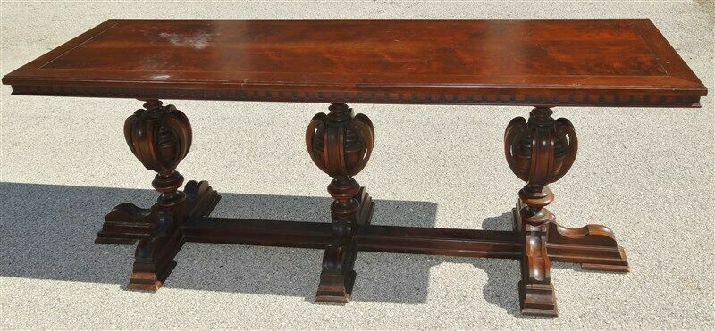 Massive Vintage American Walnut 1920s-1930s  Console Table