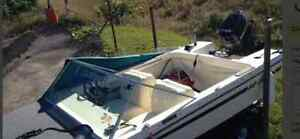 Rare 15 ft Grew with 45HP mercury motor and trailer!