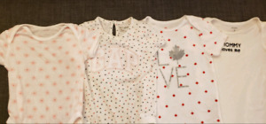 EUC 6-12 months clothing - Dress, onesies and t-shirts