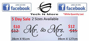 Big Mr. & Mrs. Wall Stickers (2 Options) 5 DAY SALE