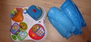 Baby play gym $10, Fisher Price baby play table $10, or both $15