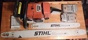 Stihl 066 Chainsaw with bars and chains