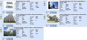 Florida Foreclosures 1M to 3M condo list, Ben Remax 1855 778-323