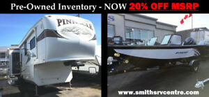 PRE-OWNED RV & MARINE MODEL CLEARANCE!!!