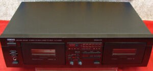 Yamaha KX-W282 dual cassette deck with high/low speed dubbing
