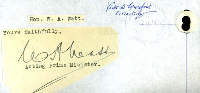 WILLIAM A. WATT - TYPED LETTER FRAGMENT SIGNED