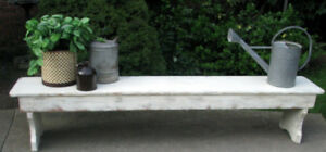 """1 OF A KIND VINTAGE SHABBY CHIC 88""""LONG INDOOR BENCH"""