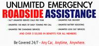 Unlimited 24/7 Emergency Roadside Assistance $9.95