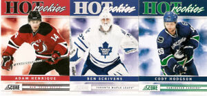 2011-12 Score Hockey Complete Set -546 cards - 46 RCs