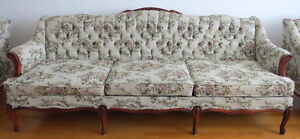 Vintage Sofa with Matching Loveseat & Armchair