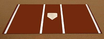 Pro Turf Home Plate Mat - 6'x12' Clay Turf Home Plate Mat