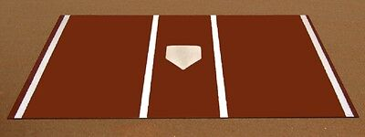 Pro Turf Home Plate Mat - 7' x 12' Clay Turf Home Plate Mat