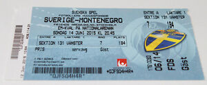 Ticket for collectors EURO q * Sweden - Montenegro 2015 in Solna - <span itemprop=availableAtOrFrom>Internet, Polska</span> - Ticket for collectors EURO q * Sweden - Montenegro 2015 in Solna - Internet, Polska