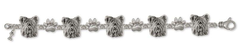 Skye Terrier Bracelet Jewelry Sterling Silver Handmade Dog Bracelet SKY4-BR