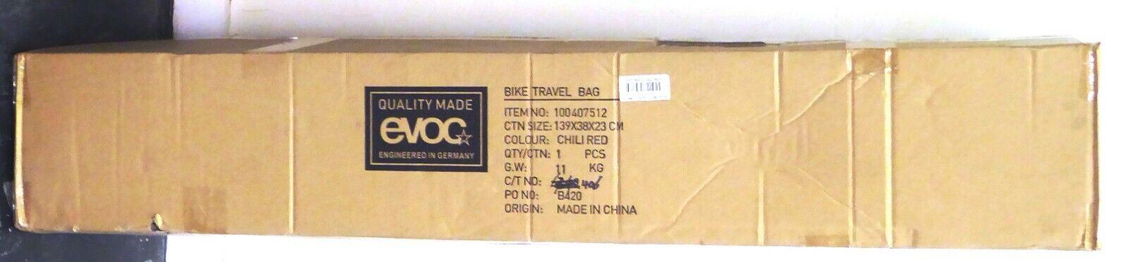 EVOC Bike Travel Bag Red Chili