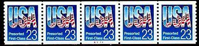 Usa Presorted First Class Blue Pnc5 Pl A1111 Mnh Vf Scotts 2606             S5