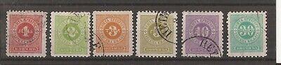 MONTENEGRO 1894 postage due stamps 1n - 30n vfu