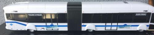 NABI 60BRT Foothill Transit  Plastic Model Bus 1/50 Scale Silver Streak LA Rare
