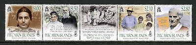 Pitcairn Isl 2017 MNH Prominent Pitcairners Pt 5 Rosalind Young 4v Strip Stamps