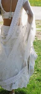 Gorgeous ivory colored lengha!