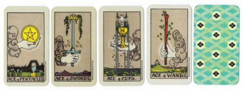 TeenyTinyTarot © PREMIUM Tarot Aces (Waite-Smith style) Meditation/Contemplation