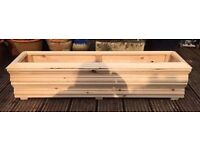 Garden Trough or Herb Planter on feet - Hand made - Large - 100cm long x 23cm wide x 23cm tall