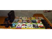 X-Box 360 Kinect with all accessories 4 controllers and 19 games