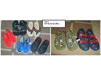 boys summer sandals/shoes size 1 prices on pic or £15 the lot collection from Didcot
