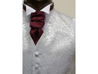 WAISTCOAT FOR MENS SLIVER RUMOURS SIZE 22 TO 56