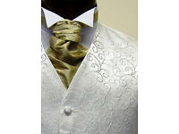 Mens Wedding Waistcoat Ivory Roumers Size 20 to 60