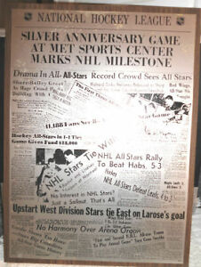 NHL All Star Silver Anniversary Game Plaque