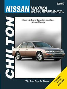 Chilton 52452 Repair Manual for Fits Nissan Maxima, 1993-04